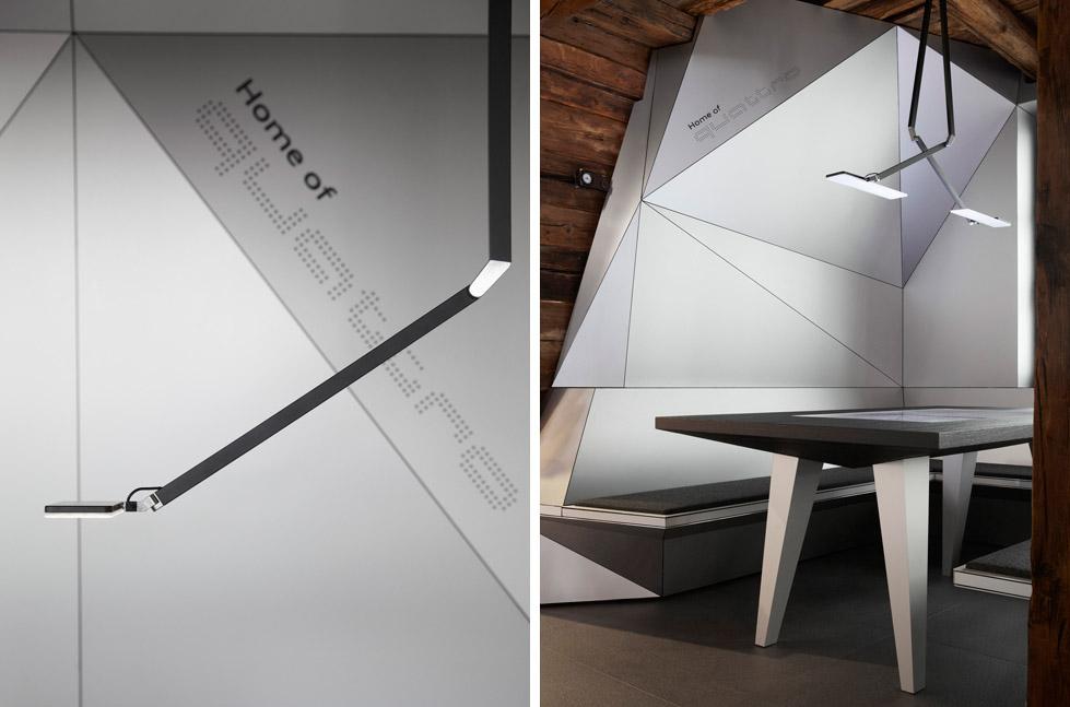 一座带着热心艳红和高科技姿态的小屋quattro Festkogl Alm for Audi  Designliga (5)