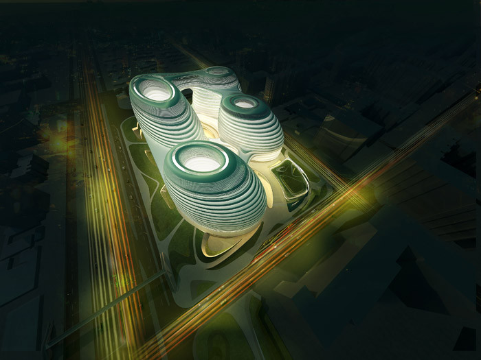 北京银河SOHOChina Zaha Hadid Architects (5)