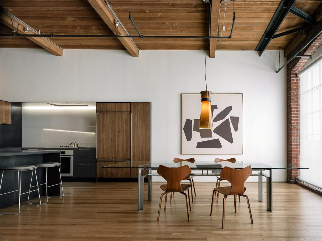 旧金山的SOMA改建的阁楼San francisco Loft  LINEOFFICE Architecture (2)