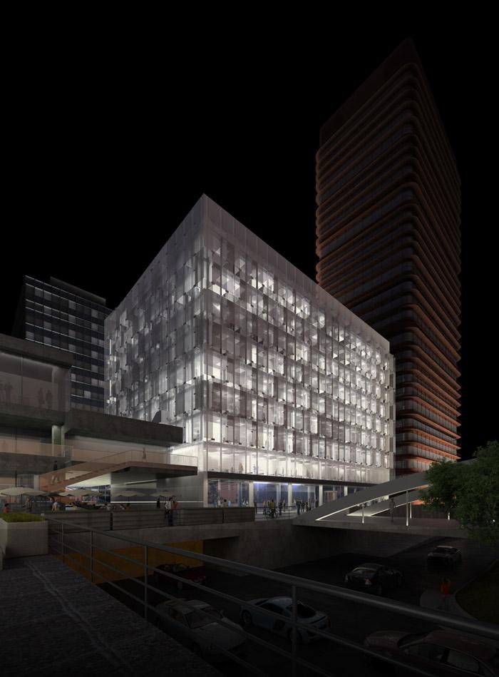 西班牙的普尔塔翁布里亚大区高速铁路站  Castellana 79 Building  Rafael de La-Hoz Arquitectos  (6)