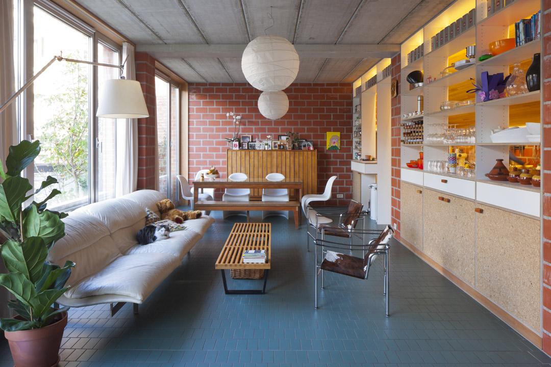三栋住宅、一个办公室、一个庭院Mixed use infill 3 houses and an office  Collectief Noord  (3)