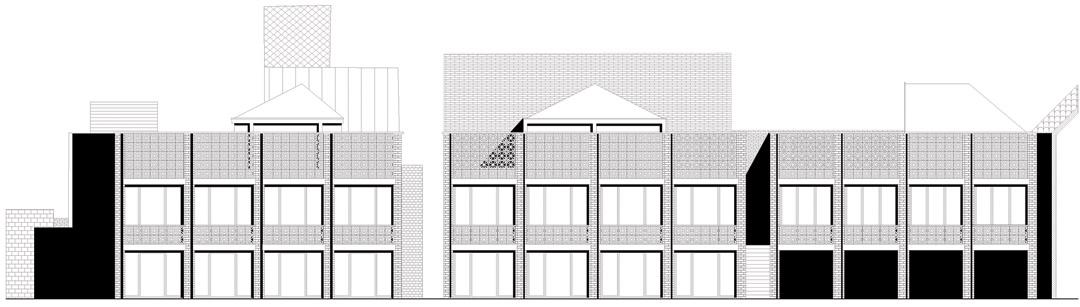 三栋住宅、一个办公室、一个庭院Mixed use infill 3 houses and an office  Collectief Noord  (4)