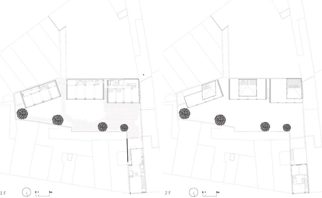 三栋住宅、一个办公室、一个庭院Mixed use infill 3 houses and an office  Collectief Noord  (6)
