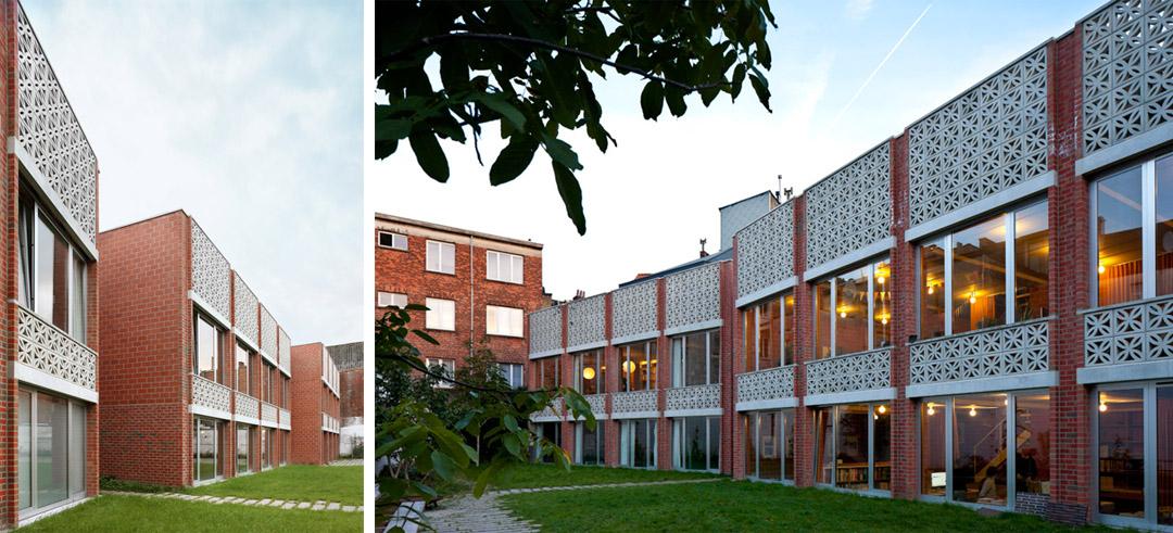 三栋住宅、一个办公室、一个庭院Mixed use infill 3 houses and an office  Collectief Noord  (8)