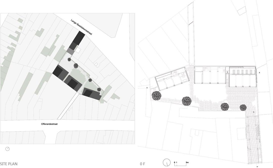 三栋住宅、一个办公室、一个庭院Mixed use infill 3 houses and an office  Collectief Noord  (11)
