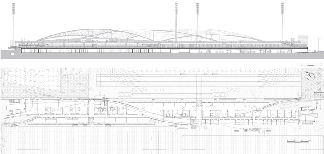 一块漂浮扭动的帆Léo Lagrange Stadiumarchi5 (5)
