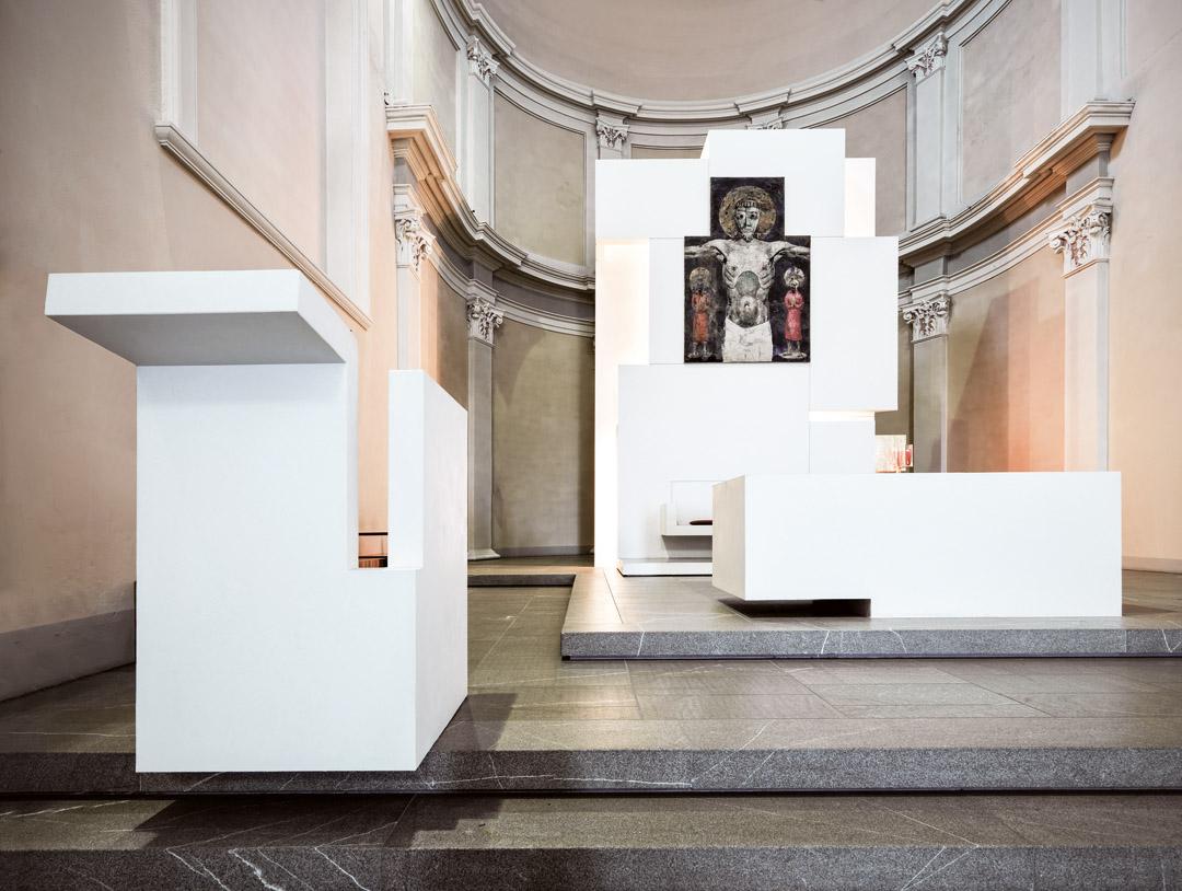 意大利贝加莫地区的Sacro Cuore e S. Egidio Abate教堂改建工程 (12)