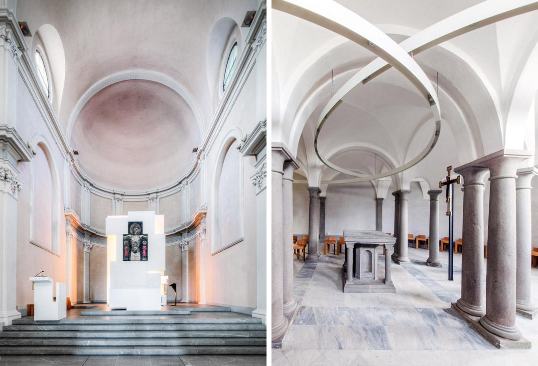 意大利贝加莫地区的Sacro Cuore e S. Egidio Abate教堂改建工程 (13)