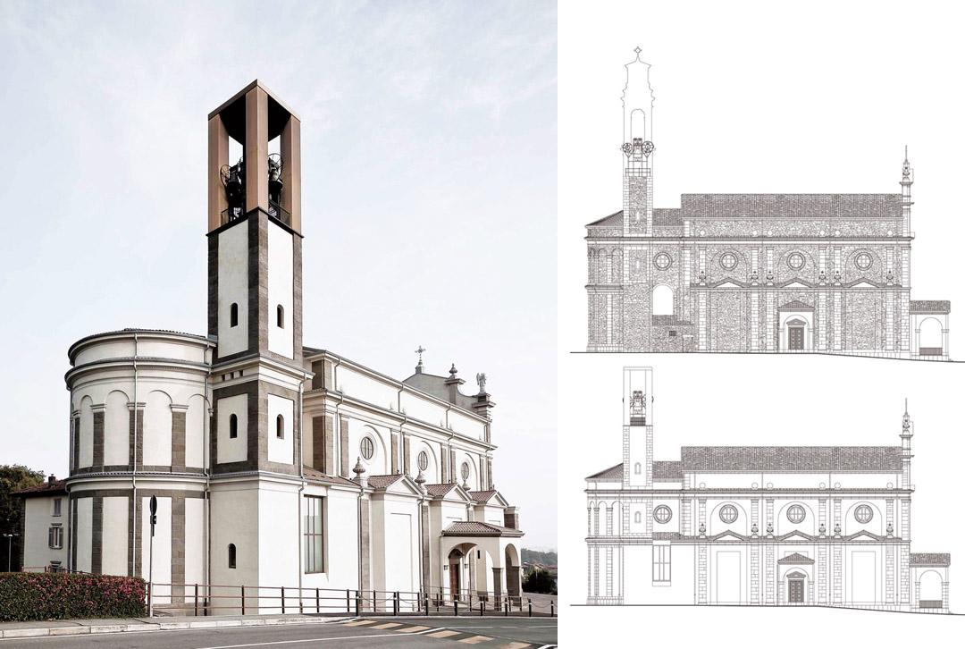 意大利贝加莫地区的Sacro Cuore e S. Egidio Abate教堂改建工程 (16)