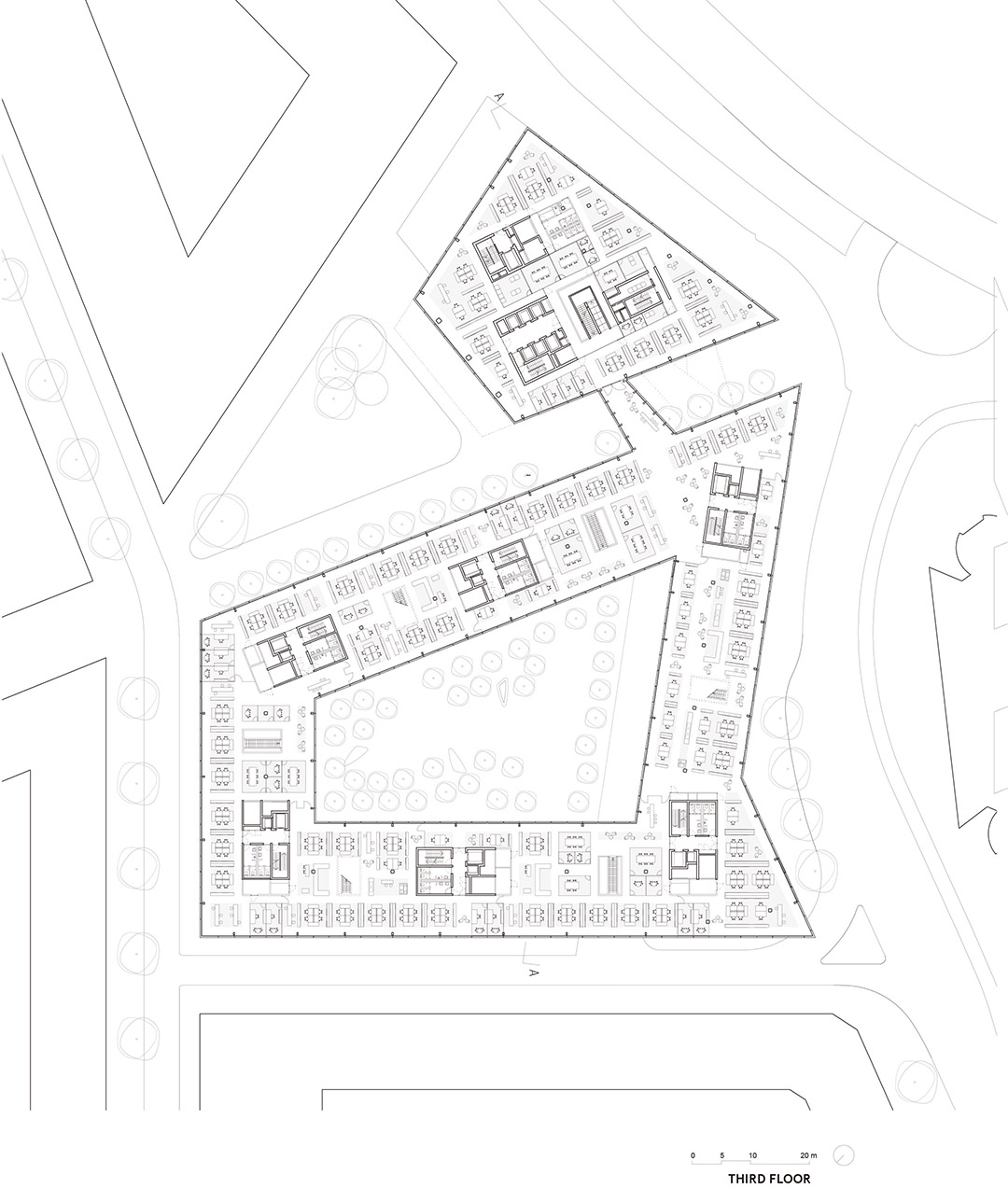 安联总部办公楼维尔阿雷兹建筑事务所Allianz Headquarters  Wiel Arets Architects (2)