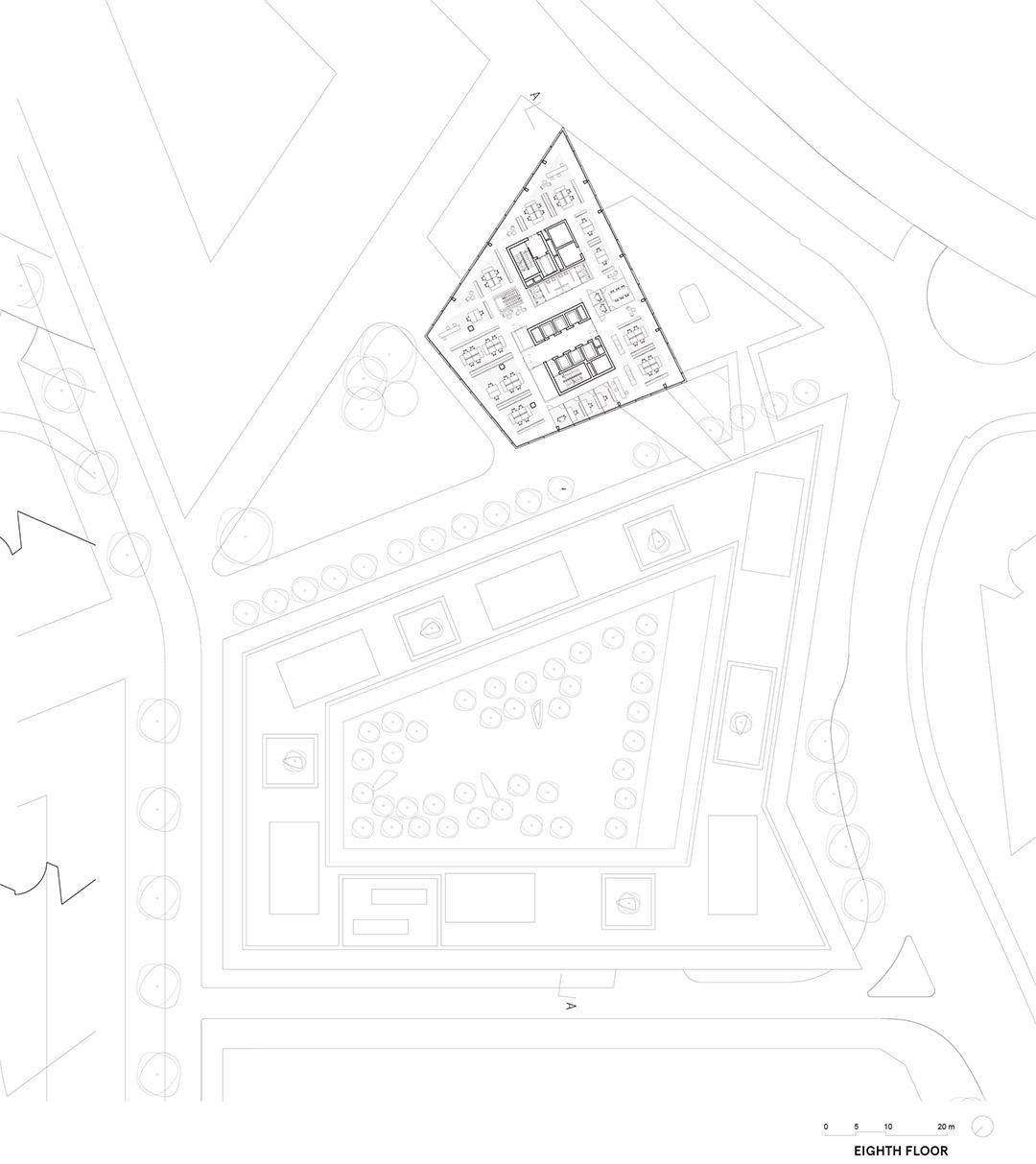 安联总部办公楼维尔阿雷兹建筑事务所Allianz Headquarters  Wiel Arets Architects (3)
