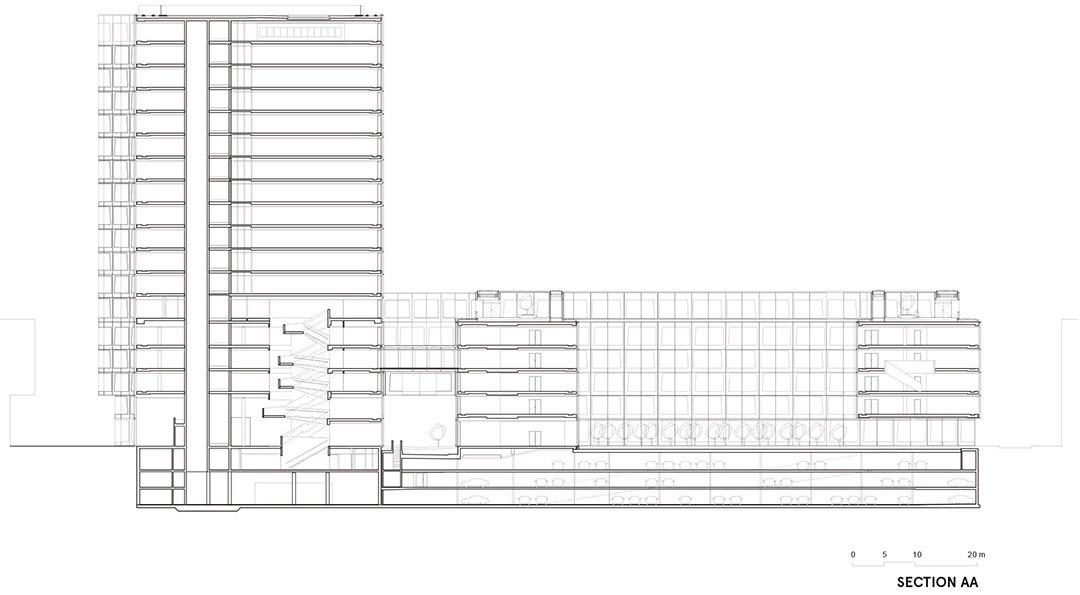 安联总部办公楼维尔阿雷兹建筑事务所Allianz Headquarters  Wiel Arets Architects (17)