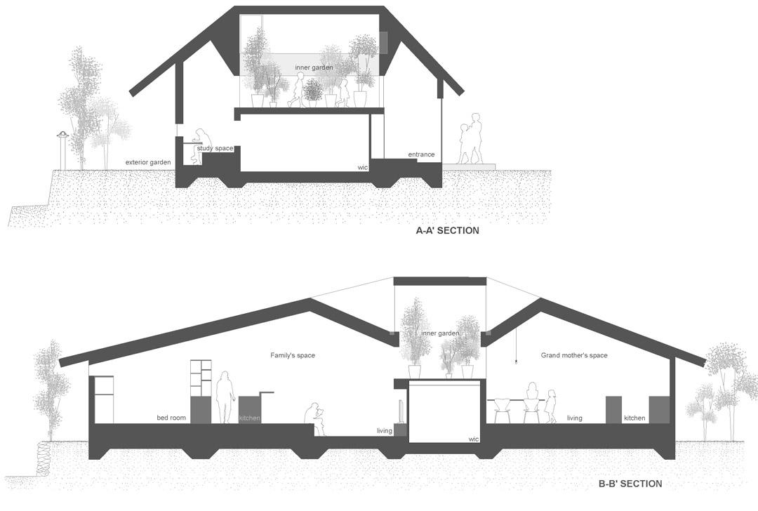 日本两个住宅的合并i.n.g  Katsutoshi Sasaki (4)