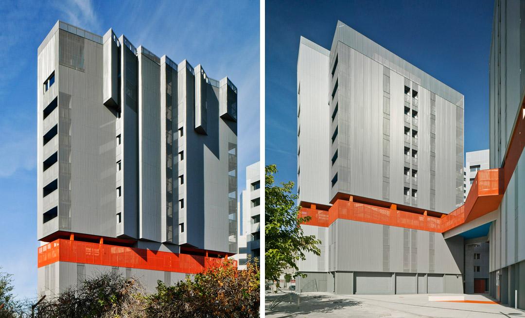 118个社会住房单元的混合建筑 (1)