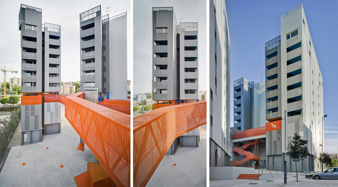 118个社会住房单元的混合建筑 (6)