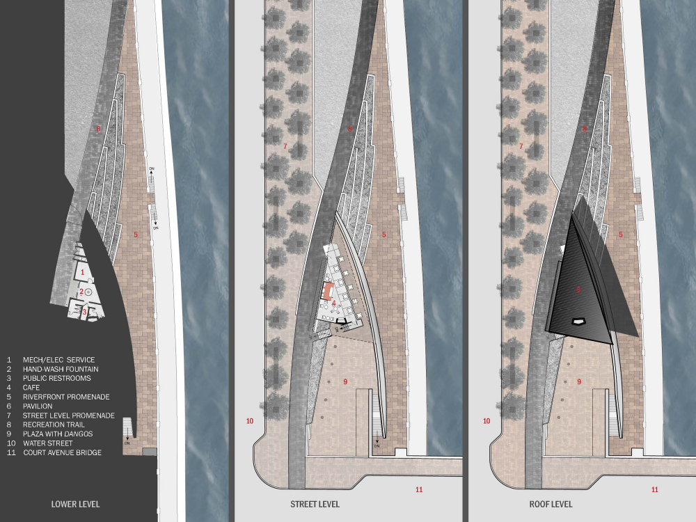 美国爱荷华州得梅因主河滨项目中心景点Substance Architecture (1)