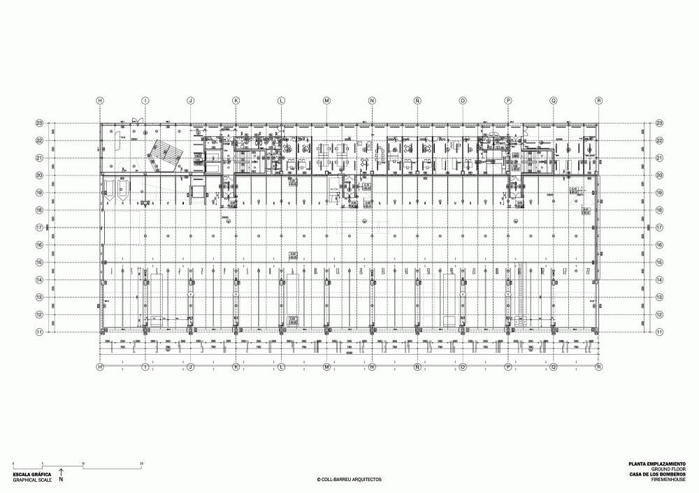 西班牙毕尔巴鄂消防站 firemen house coll barreu arquitectos Coll-Barreu Arquitectos (2)