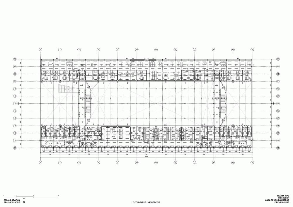西班牙毕尔巴鄂消防站 firemen house coll barreu arquitectos Coll-Barreu Arquitectos (6)
