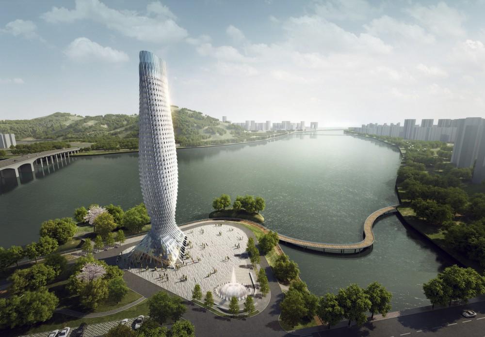 中国广东省鳞片景观塔 (1)