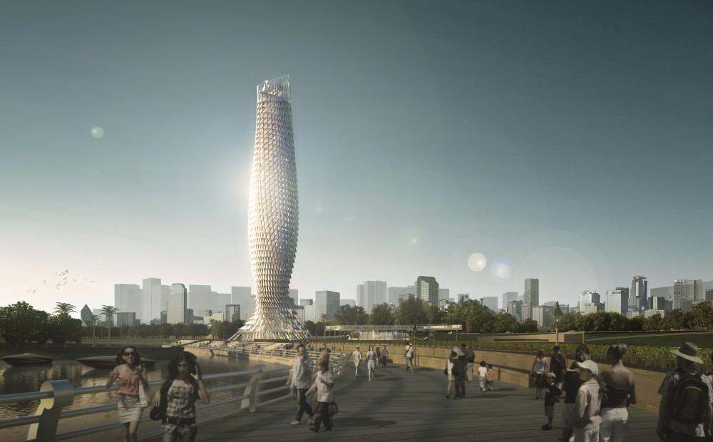 中国广东省鳞片景观塔 (10)